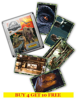 Panini Jurassic World Fallen Kingdom Single Stickers (2018) Buy 4 Get 10 Free