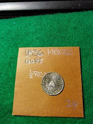 MEXICO 1836 Go RT SILVER HALF REAL