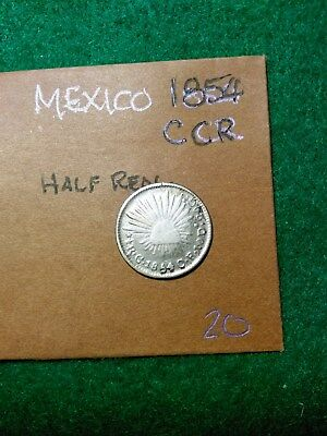 Mexico 1854 C Cr Silver Half Real