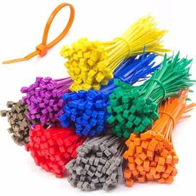 MEDIUM CABLE / ZIP TIES IN VARIOUS COLOURS 200mm x 4.8mm Strong Nylon Tidy UK