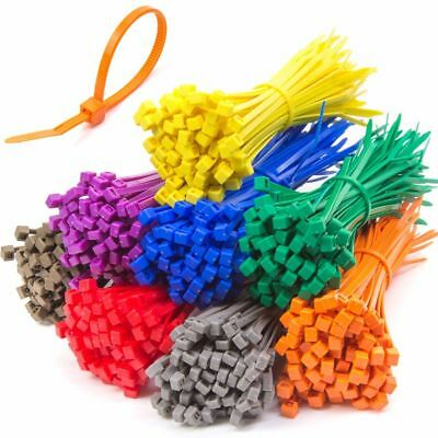 LARGE CABLE / ZIP TIES IN VARIOUS COLOURS 300mm x 4.8mm Strong Nylon Tidy UK