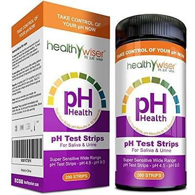 PH Test Strips 200ct - Tests Body Levels For Alkaline & Acid FREE SHIPPING