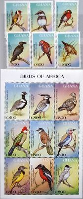 GHANA 1997 2596-10 1975-81 local Birds einheimische Vögel Fauna Nature MNH