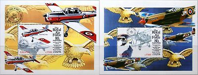 GHANA 1998 Block 367-68 S/S 2084-85 Royal Air Force Ann Airplanes Flugzeuge MNH