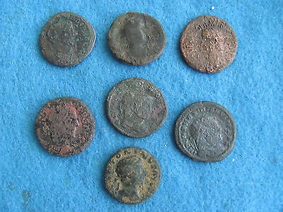 Fantastic RARE Lot of 7 Roman Bronze/Copper Coins - Imperial and Provincial