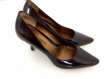 c8f623cef4b2 CIRCA JOAN   David Womens Brown Leather Pointy Toe Heels Pumps Shoes Size  6.5 M -  27.00