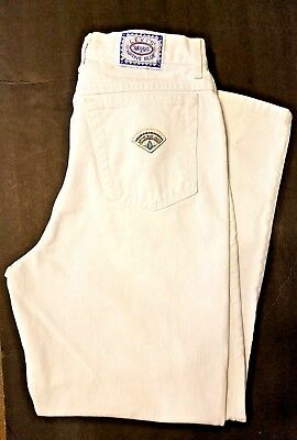 "Vintage Native Blue Levis High Waist WHITE Mom Jeans USA Size 14 31"" Waist"