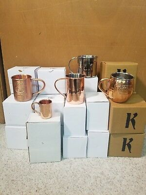 Copper Mule Mugs HUGE LOT! TITO'S, KETEL ONE, CUTTY SARK, HANGAR ONE, BARROWS