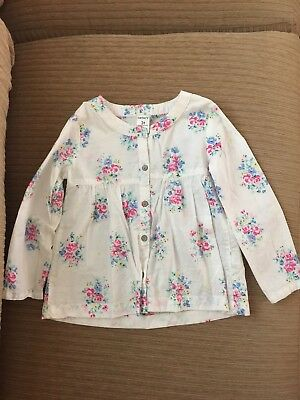 Carters Girls Long Sleeve White Flowery Shirt Fresh Size 3T