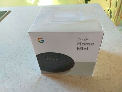 Google Home Mini Sprachassistent - Karbon in ungeöffneter Originalverpackung