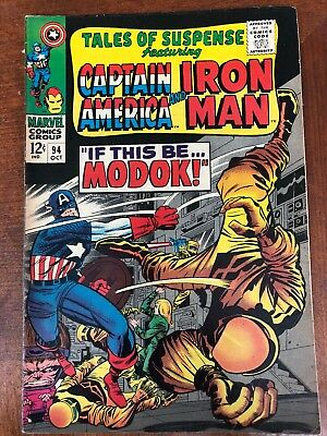 Tales of Suspense #94 (Oct 1967, Marvel) Captain America and Ironman
