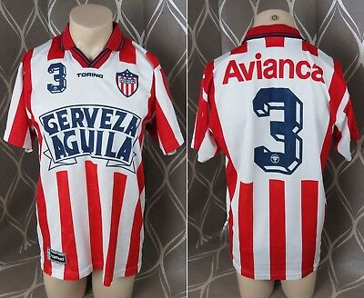 Atletico Junior 1997-98 home shirt Torino soccer jersey #3 size XL