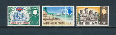 Gilbert & Ellice   132-4 MNH, Anniversary as a Protectorate, 1967