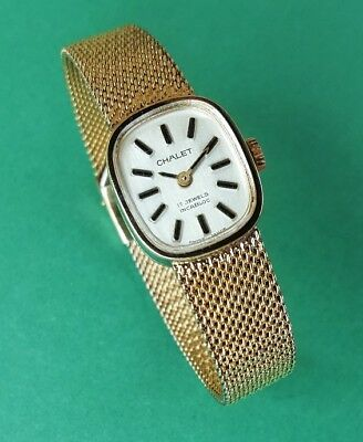 Rare Vintage Mechanical Ladies watch CHALET - 17 Jewels Incabloc - Swiss Made
