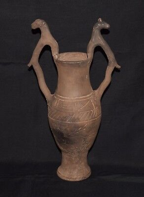 Very Rare Beautiful Pottery Greek Amphora circa 400 BC museum quality Restored!