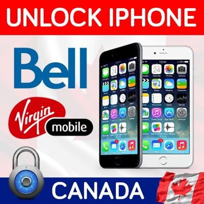 Bell Canada Premium Iphone Unlock Service  BLACKLIST SUPPORT IPHONE X/8/7/6/5/4
