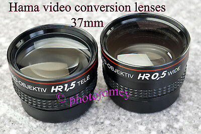 Hama video conversion lens pair (2) New other!