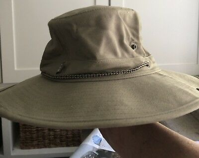 795b5470b7c4a REI Vented Sun Hiking Boonie Hat with Strap Small S olive dark green