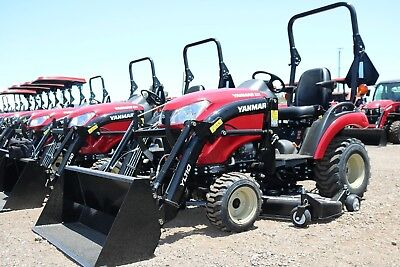 $212 mo - 2018 Yanmar 221XH-TLD 4X4 Tractor Loader and MOWER DECK - with OPTIONS