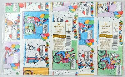 Lot of 2 Packs HALLMARK Classic Maxine Birthday Gift Wrapping Paper Sealed Pack