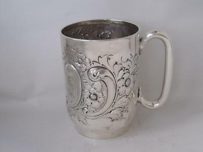 Antique Victorian Solid Sterling Silver Cup/ Mug 1900/ H 9.2 cm/ 165 g