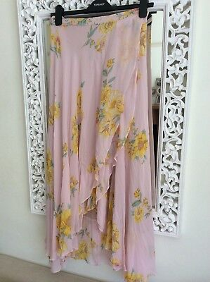 6c8e7ccb62 ZARA WOMAN YELLOW and Pink Floral Midi Skirt, Size M UK 10 New ...