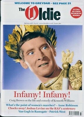 The Oldie Magazine #360 ~ Spring 2018 ~ Craig Brown On Kenneth Williams ~ New ~
