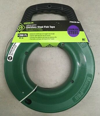 Greenlee Fts438-240 Steel Fish Tape 240""