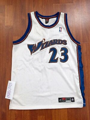 39c8e2bee244 Nike Michael Jordan Washington Wizards Authentic Jersey White Home Size 52  XXL