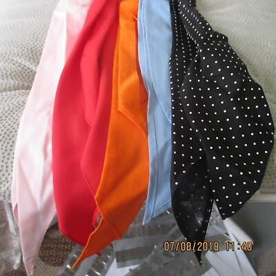 #15- LOT OF 5-Classic western scarf ties ,Perfect for square dance outfits,   .