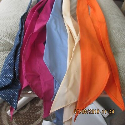 #17-LOT OF 5-classic western scarf ties ,Perfect for square dance outfits,    .