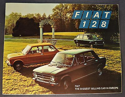 1972 Fiat 128 Sales Brochure Folder Excellent Original 72