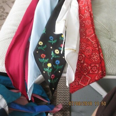 #21- LOT OF 5 -classic western scarf ties ,Perfect for square dance outfits, .