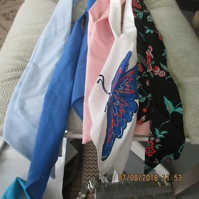 #23-LOT OF 5- Classic western scarf ties ,Perfect for square dance outfits,   .