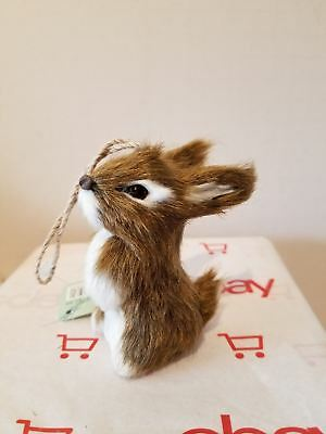 Natural Fiber Ornament - Brown Rabbit