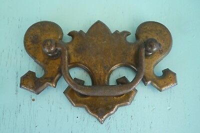 Angled Chippendale Mid Century 60's Antique Vtg Drawer Pull Original Patina