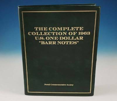 Postal Commemorative Society Complete Collection 1963 US $1 Barr Notes PCS Set