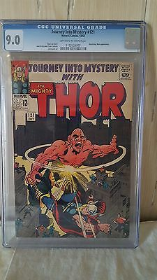 Journey into Mystery 121 CGC 9.0 VF/NM Marvel 1965 OW/W Absorbing Man