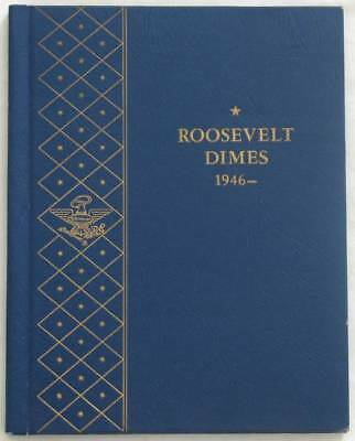 1946-1964 Roosevelt Silver Dimes in Whitman Album - 33 Coins