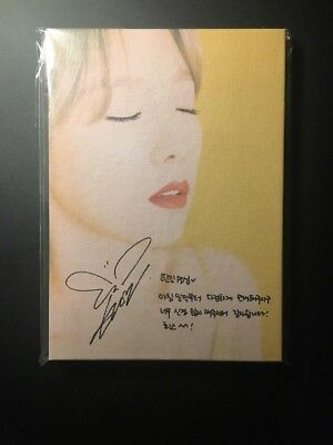 Taeyeon My Voice Fine Version Promo Autographed Signed Girls Generation SNSD