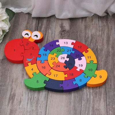 1 Pc Snails Wooden Toys Puzzle Baby Kid Developmental Toy Gifts Jigsaw Puzzles