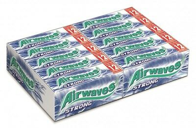 Wrigleys Airwaves Strong Menthol/Eukalyptus Kaugummi 30 Packungen