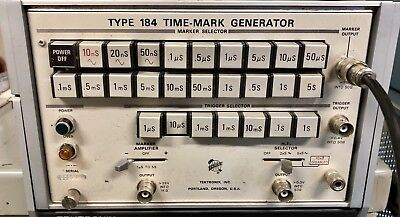 Tektronix Type 184 Time Mark Generator Tek Bench Test