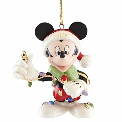 Lenox Disney Christmas Mickey Mouse Ornament Merry & Bright New 2018 876928