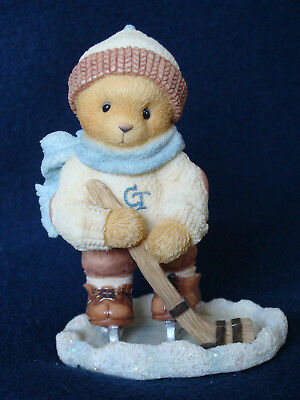 Cherished Teddies - Brandon - Hockey Player Figurine - 354252 - 1998