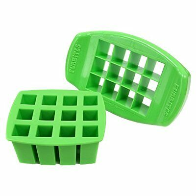 FunBites Shaped Food Cutter, Green Square, Pink Hearts 2 Pack New!