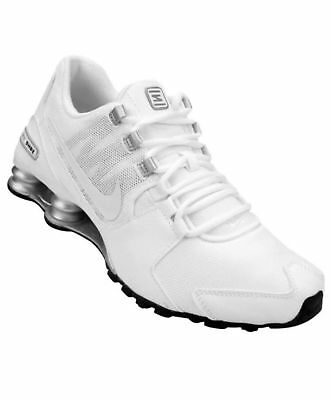 differently a8289 a24a4 Nike Mens Shox Avenue Running Training Shoes White Silver 833583-101 Men Sz  13
