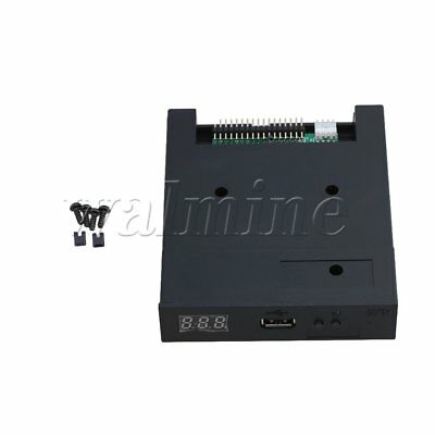 "Black 5V 3.5"" 1.44MB Floppy Disk Drive Emulator To USB Flash Drive Simple Plug"
