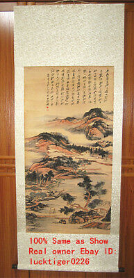 Chinese Excellent Painting Scroll Landscape By Zhang Daqian张大千
