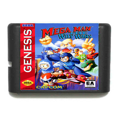 Mega Man The Wily Wars 16 bit SEGA MD Game Card For Sega Mega Drive For Genesis